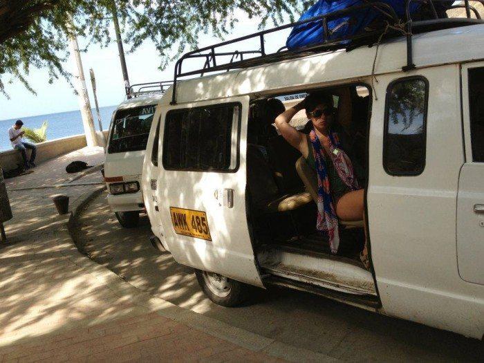 shuttle taganga to tayrona