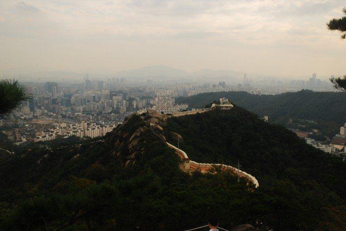 view from inwangsan peak