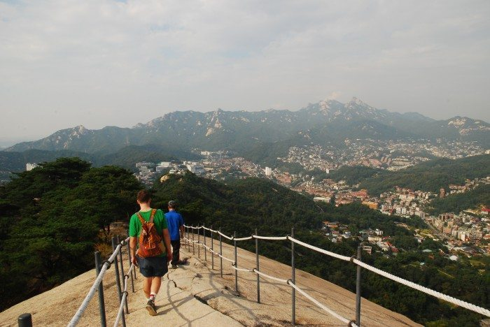 hiking inwangsan ridge