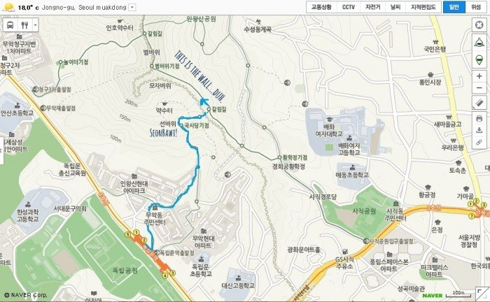 hiking inwangsan seoul