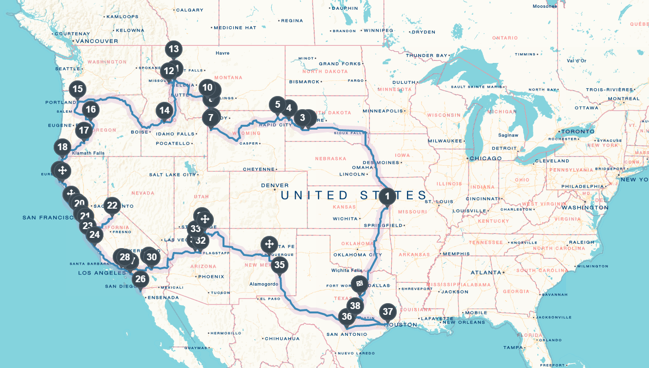 The Great American Road Trip: Budget, Breakdown & Stats