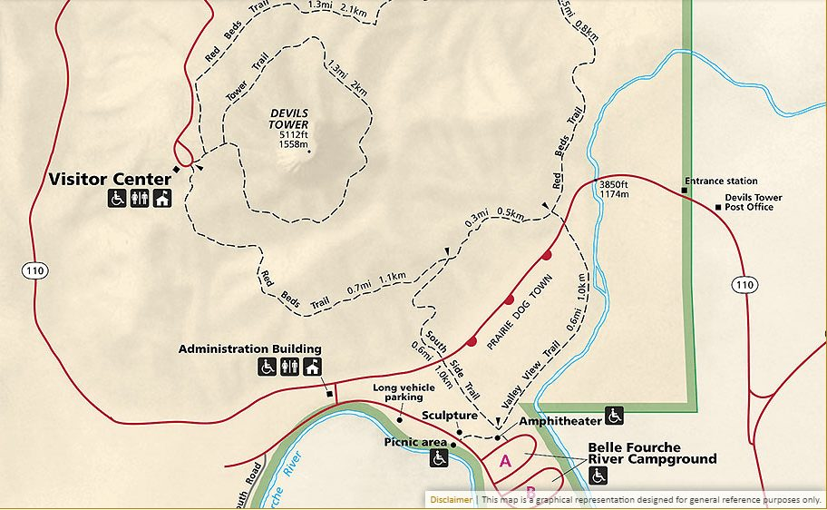devils tower campground map - Wanderlust Logs on