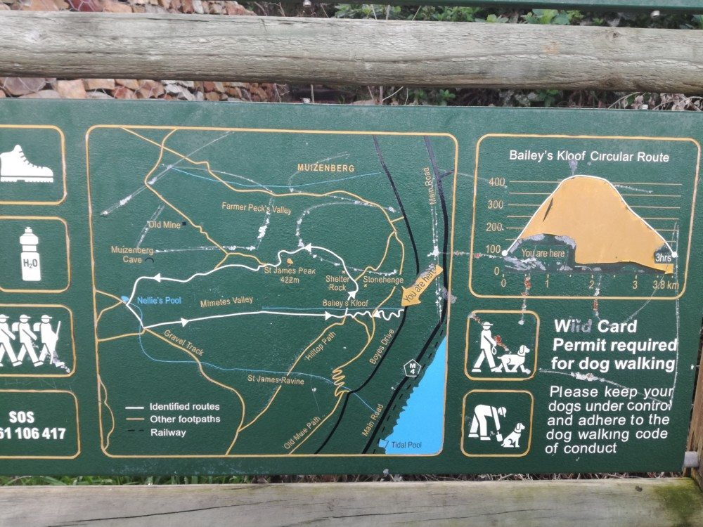 baileys kloof trail map
