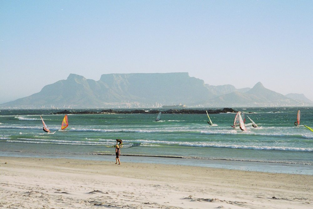 view from bloubergstrand