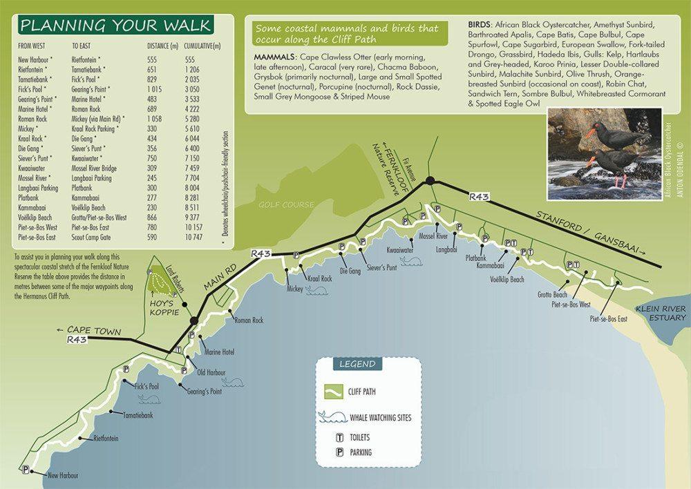 fernkloof hiking map